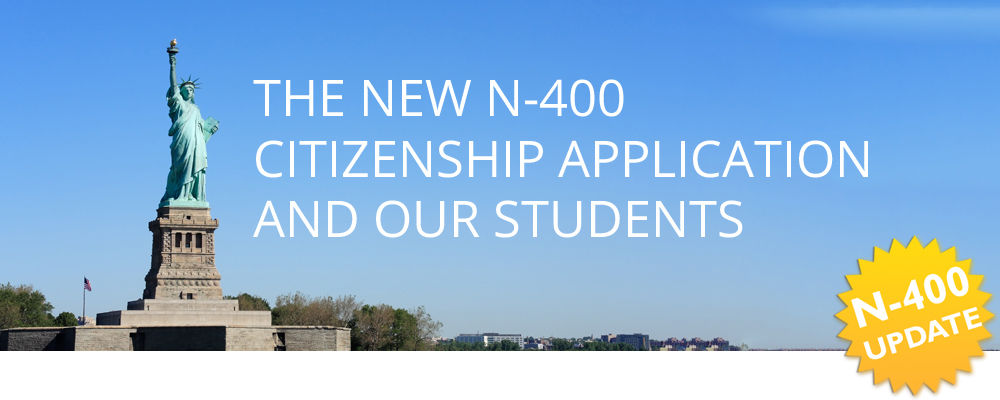 The New N 400 Citizenship Application And Our Students Molinsky
